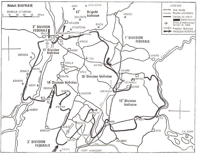 Carte du réduis biafrais