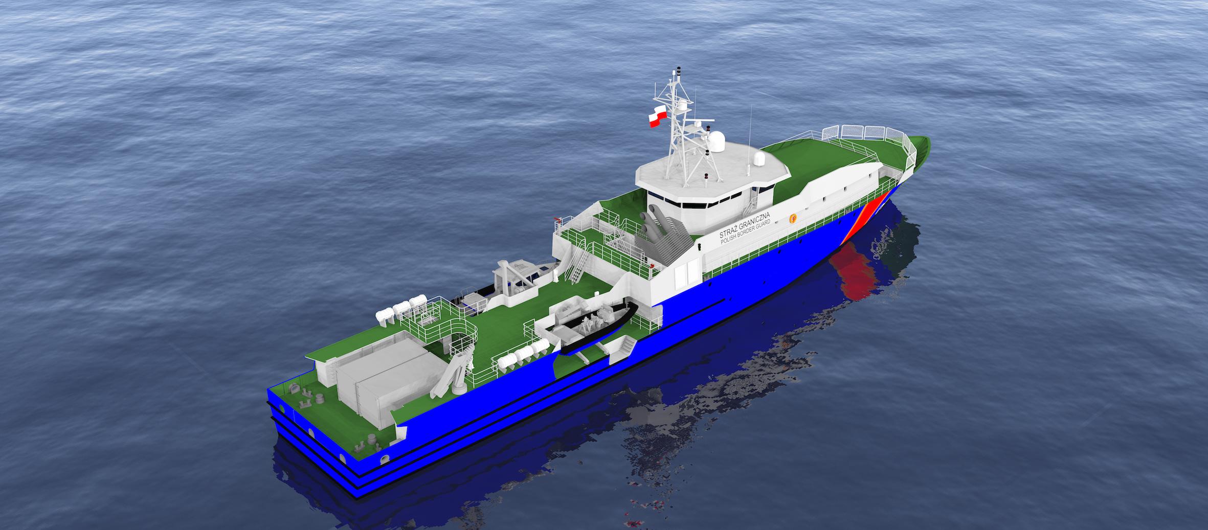 Prototype du navire OPV polonais